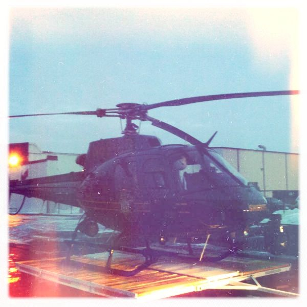 Sheriff heli at the Detroit FBO