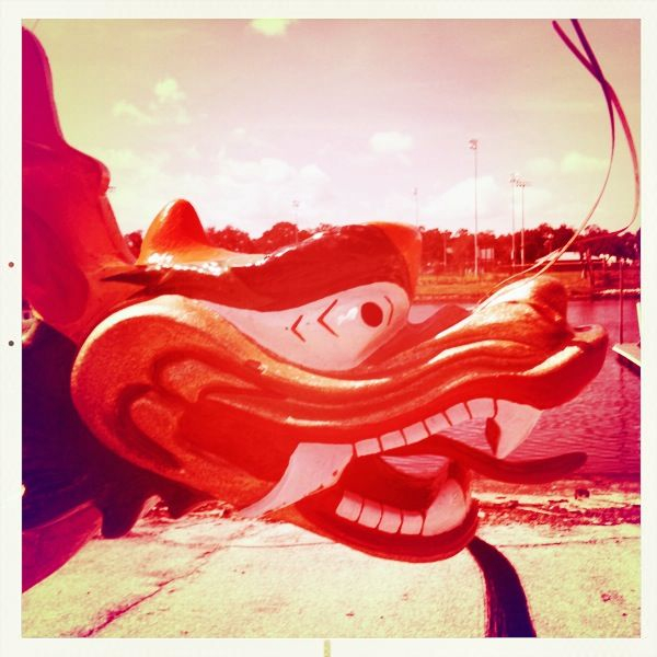 The head of a dragon boat I just finished shooting in Tampa with photog  Ray Lego .