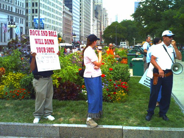 Protesters at last summers Lollapalooza.