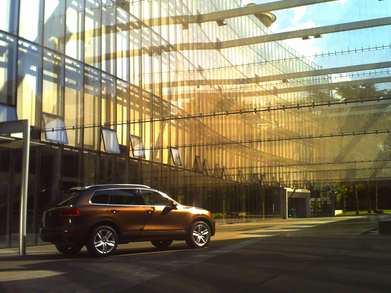 The all-new redesigned  2011 Volkswagen Touareg2  at  The Seattle Center .