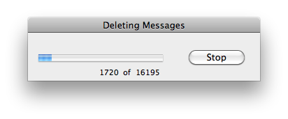 Permanently deleting my deleted email folder for the second time in 4.5 years.
