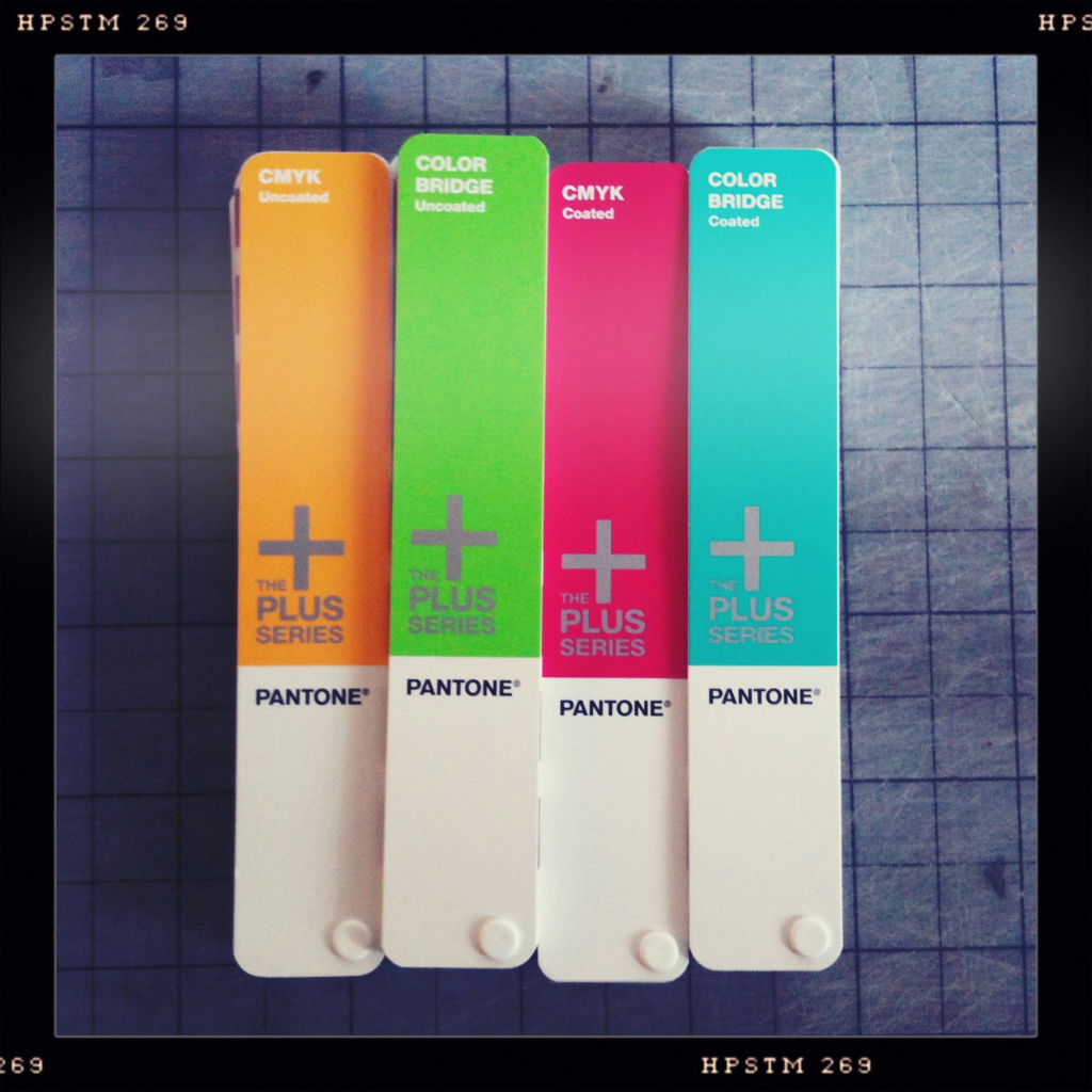 Playing with some brand new Pantone books and wishing they had more clearly and consistently named color swatches.