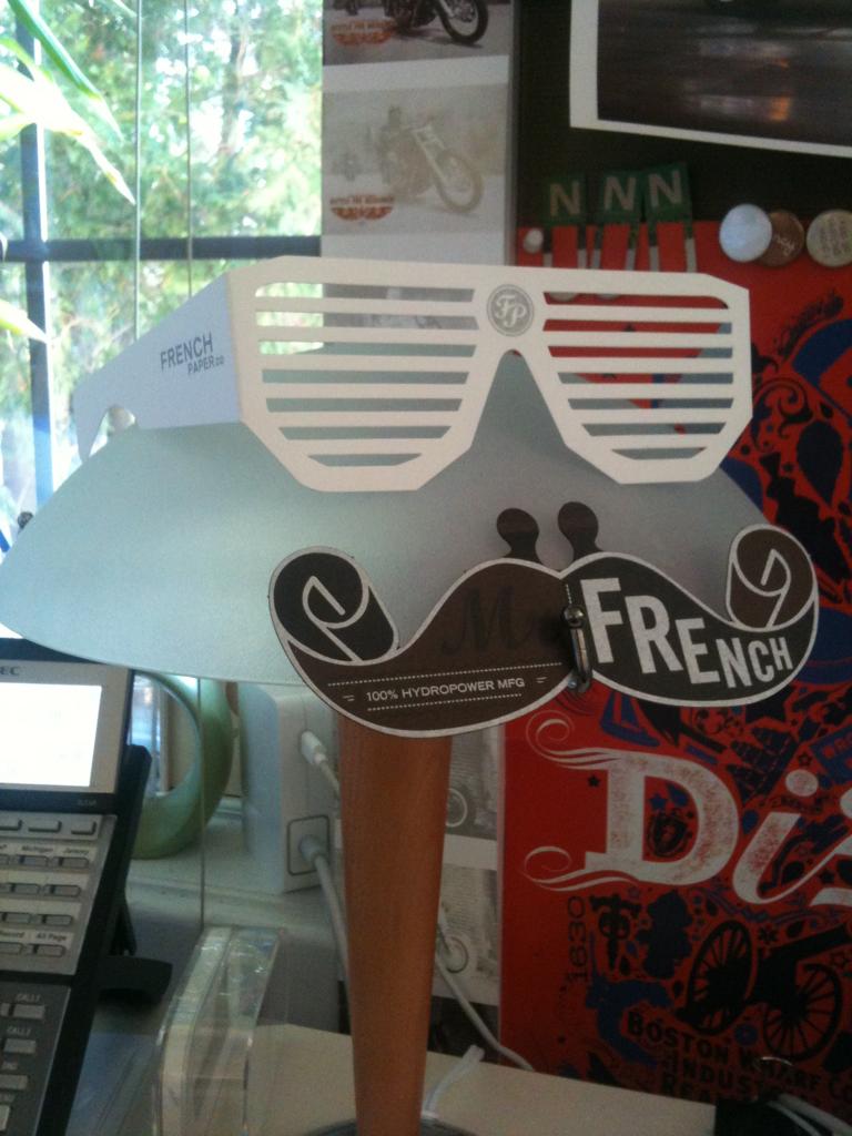 My Mr. French desk lamp.