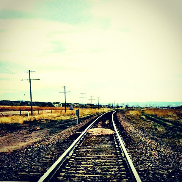 #railroad #train #tracks #country (Taken with  instagram )