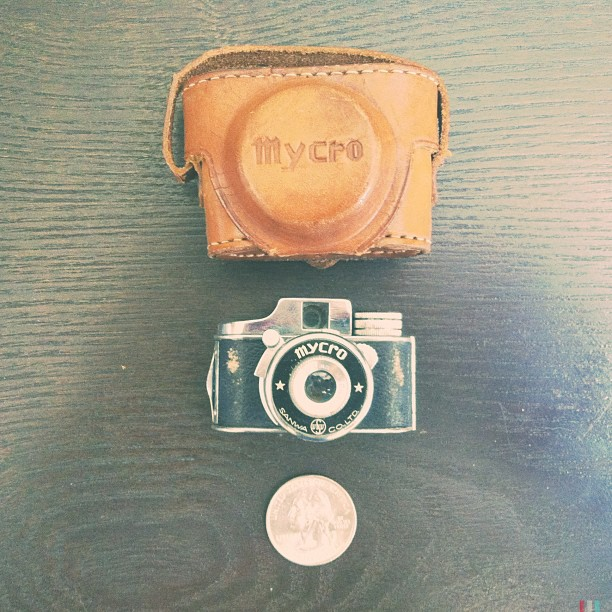 My dad gave me this camera for Christmas. It was his fathers who got got while stationed in the America Occupation Army in Japan during WWII and this particular model was only produced in the latter half of 1948. The coolest thing about it is there's still a roll of unprocessed film in it.