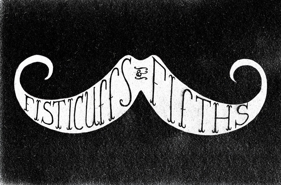 Fisticuffs n Fifths art print for sale in the new shop.  Swoop that stache up here.