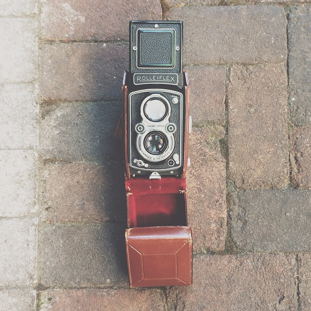 Not really sure if this counts as a #TBT post, but since I took the photo several weeks ago and because it's a #vintage #120film  #camera I'm gonna just go with it. #rolleiflex #want #illgrammers #exploreeverything #finditliveit #vscoonly #vsco_hub #vscogang #vscoboss