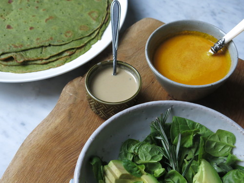 Courgette & Spinach Crepes