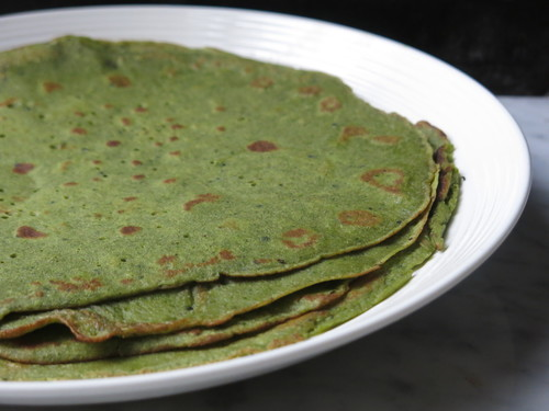 Courgetter & Spinach Crepes