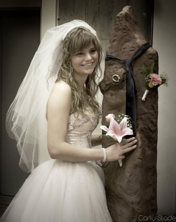 'Our Big Day' a performance piece in which Slade marries 'Clay.' Photo courtesy of Carly Slade