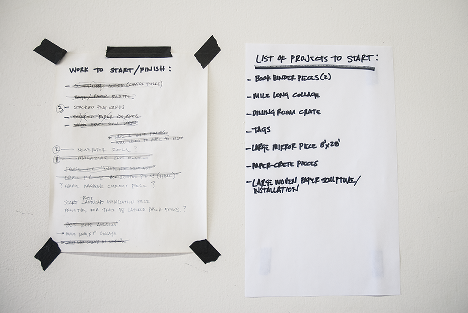 Gratkowski's 'To Do' list.  Photo © Aimee Santos