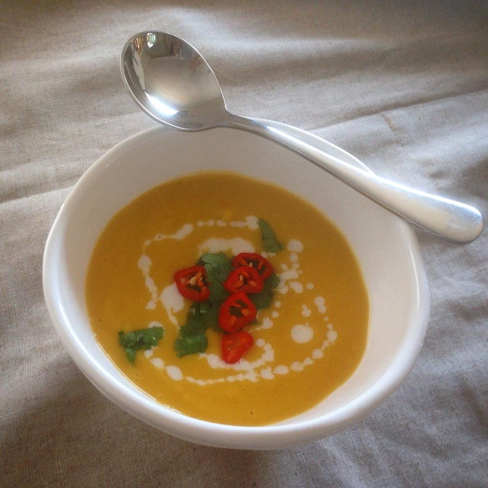 Pumpkin & Red Lentil Soup