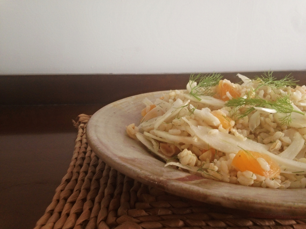 Fennel, mandarin brown rise salad bowl