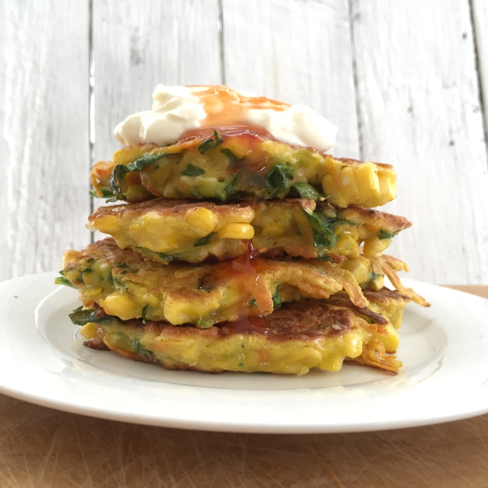 Sweet potato corn fritter recipe