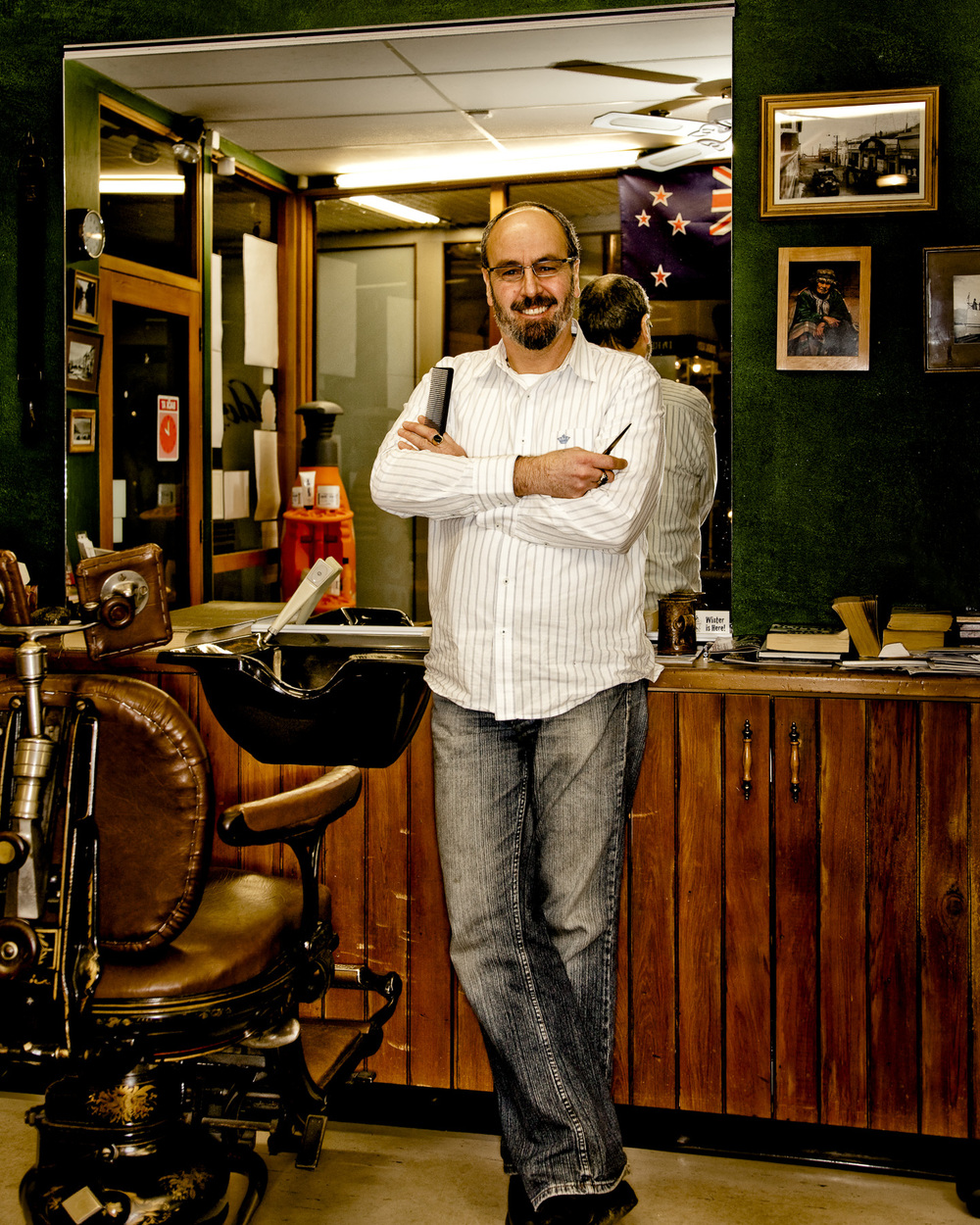 Business Portrait at Barber