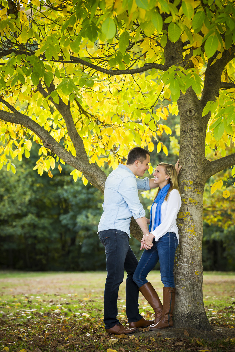 Couple Under Tree