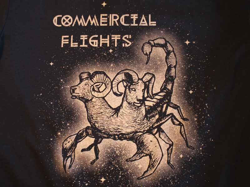 Commercial Flights Band Shirts