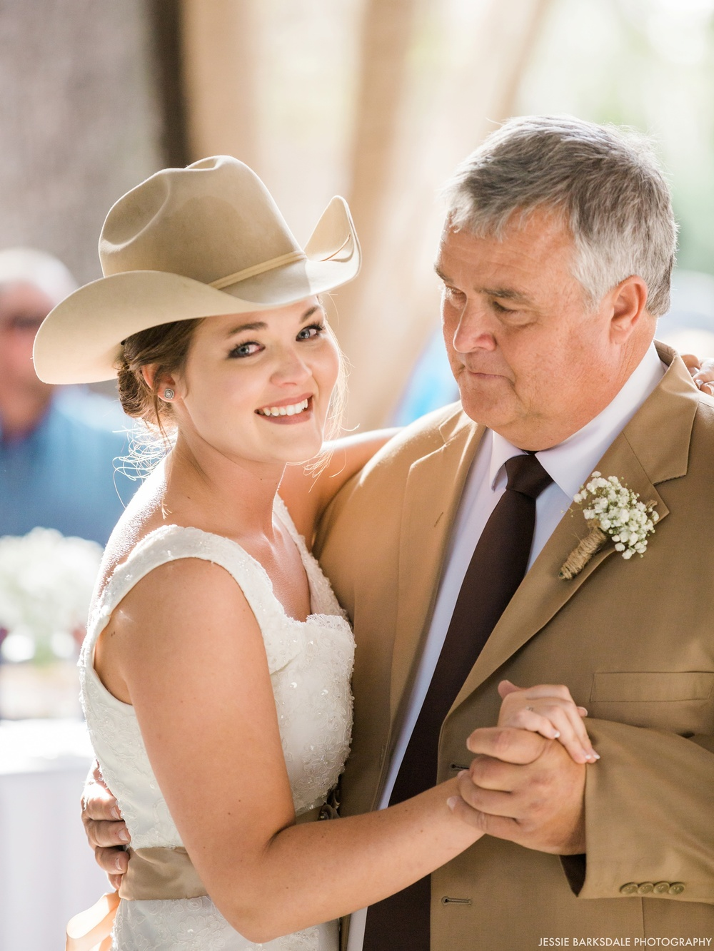 Jessie Barksdale Photography_Cowboy Hat_Father Daughter Dance_Fall Wedding Inspiration_Bridal Party_Dark Purple Plum Eggplant Bridesmaids Dress_Birmingham Montgomery Alabama Wedding Photographer