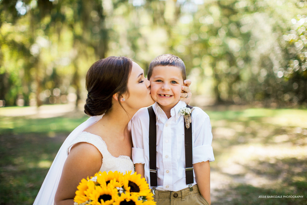Jessie Barksdale_Ring Bearer Suspenders_Fall Wedding Inspiration_Sunflower Bouquet_Bridal Party_Dark Purple Plum Eggplant Bridesmaids Dress_Birmingham Montgomery Alabama Wedding Photographer