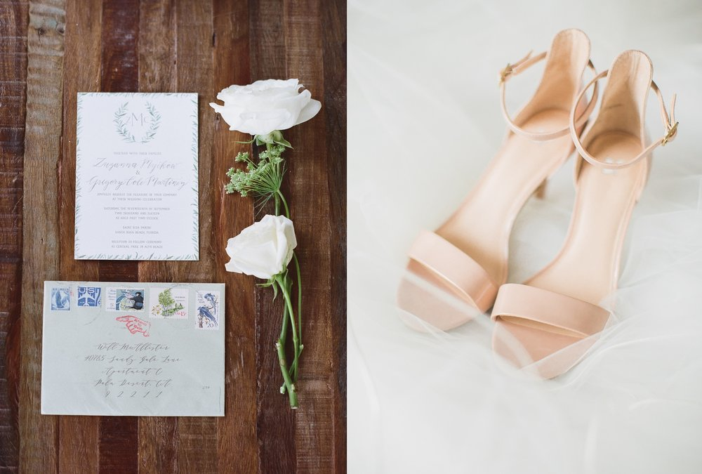 Jessie Barksdale Photography_emily rose ink invitation suite beach wedding nordstrom bridal shoes