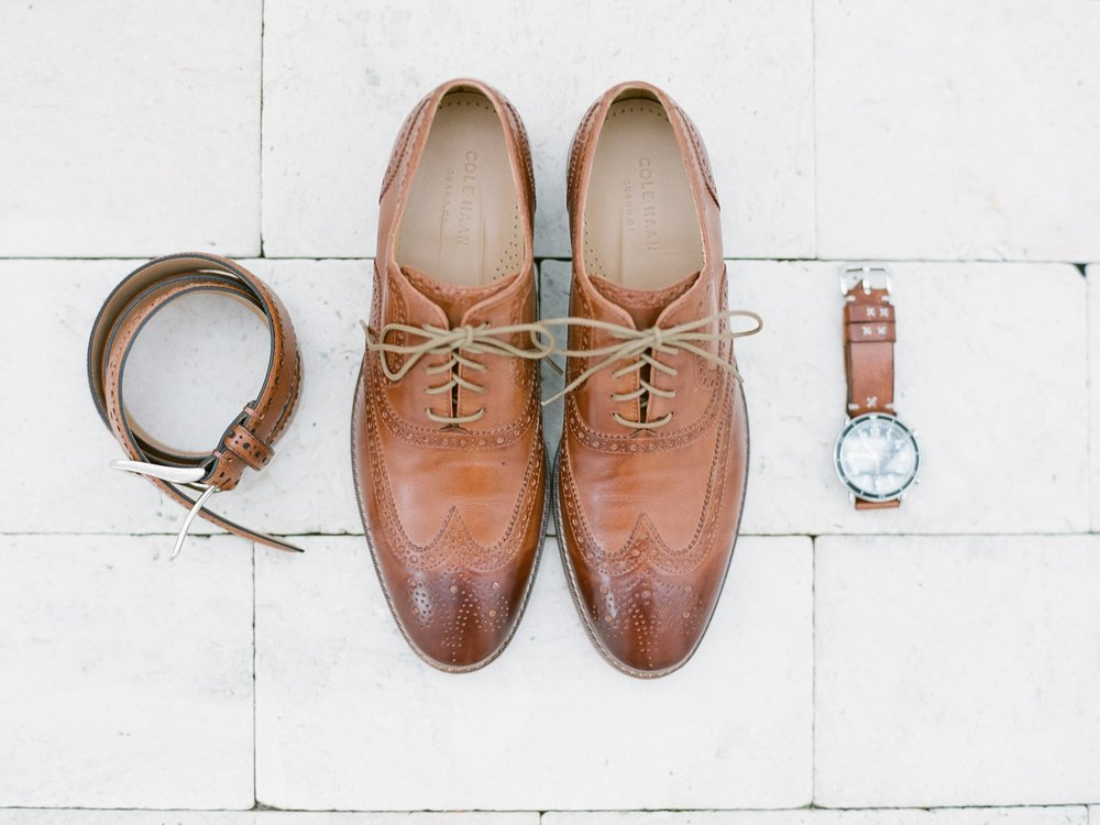 Jessie Barksdale Photography_groom details beach wedding_cole haan