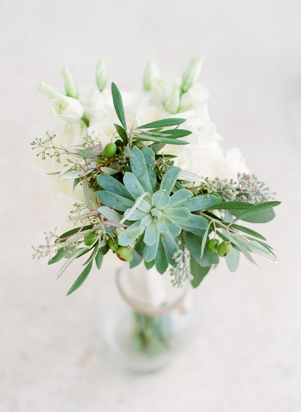 Jessie Barksdale Photography_bella flora 30a succulent white rose eucalyptus bouquet