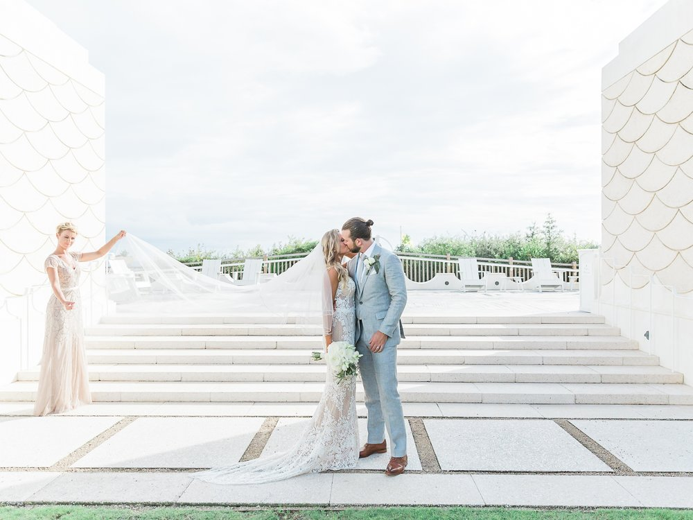 Jessie Barksdale Photography_bride and groom alys beach wedding kiss