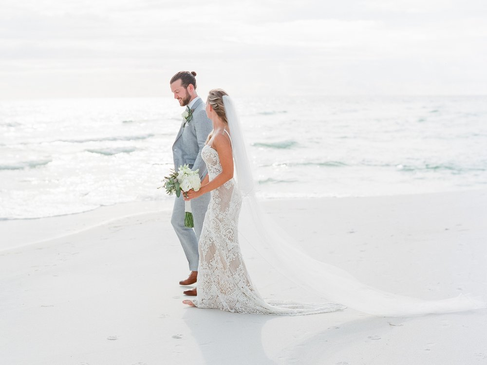 Jessie Barksdale Photography_dreamy romantic bride and groom beach pictures