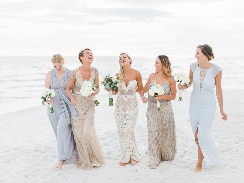 Jessie Barksdale Photography_mix and match mismatched bridesmaids sparkle beaded sequin gown