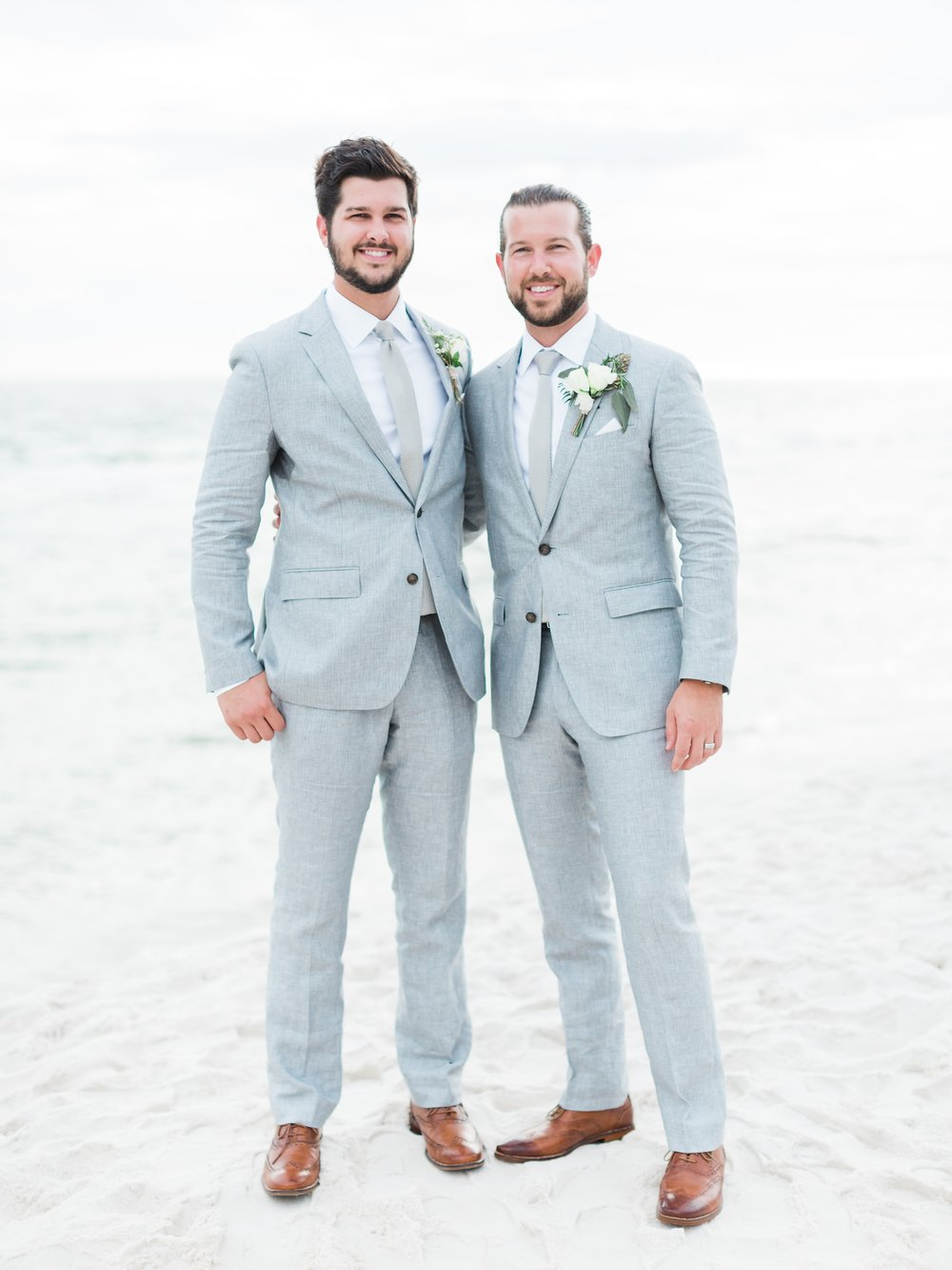 Jessie Barksdale Photography_handsome groom look bonobos grey suit