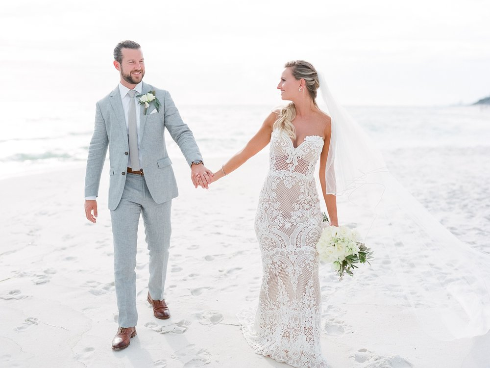 Jessie Barksdale Photography_stunning beach wedding style me pretty