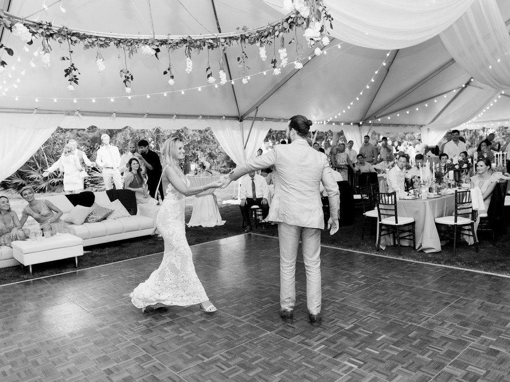 Jessie Barksdale Photography_beach wedding tent reception
