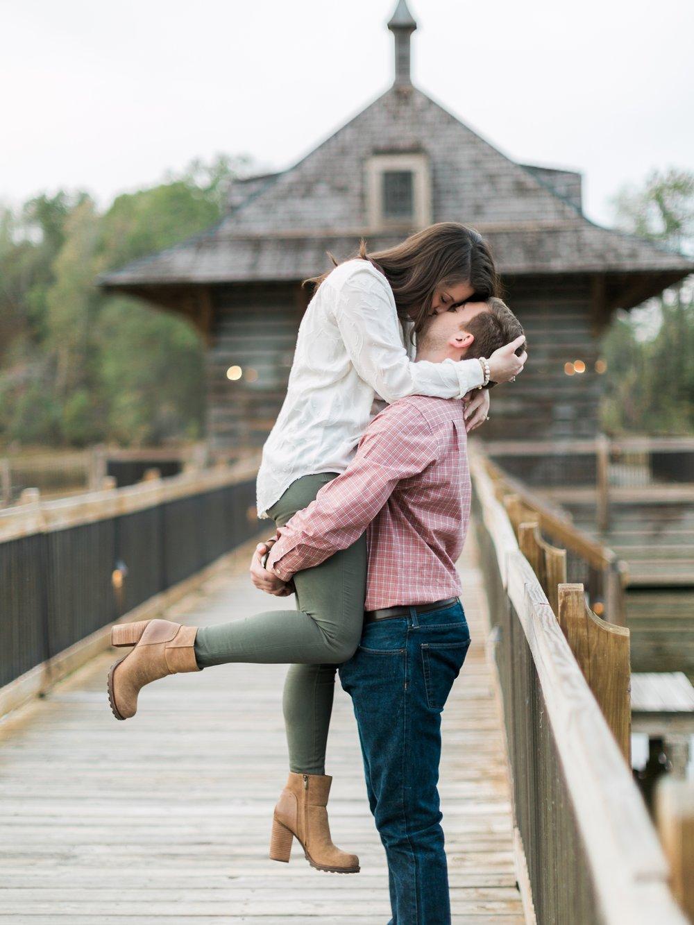 Romantic Kiss Engagement Pictures