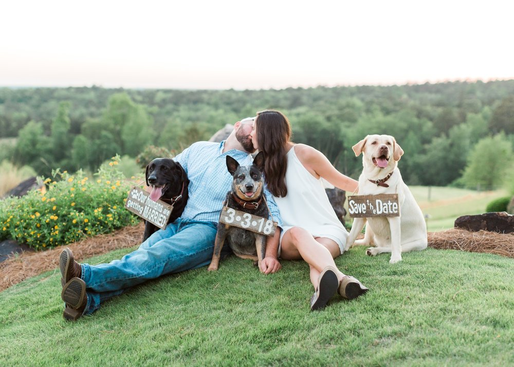 Cute Save the Date with Dogs_001