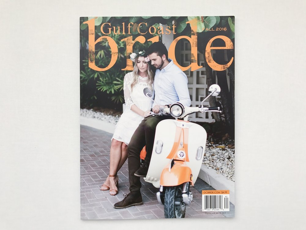 Fine Art Film Destination Wedding Photographer, featured in Gulf Coast Bride Magazine.