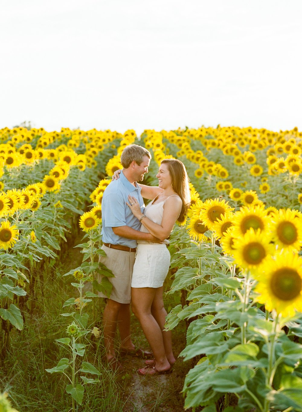 Jessie Barksdale - Sunflower Field Couple Session