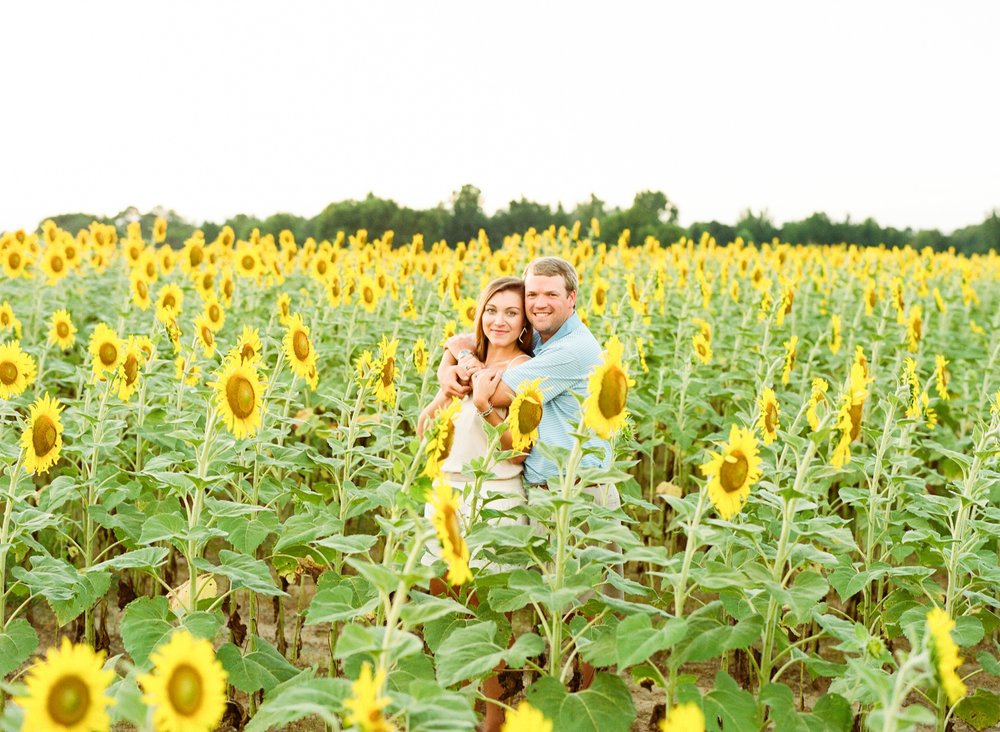 Jessie Barksdale Photography, Sunflower Field Anniversary Session
