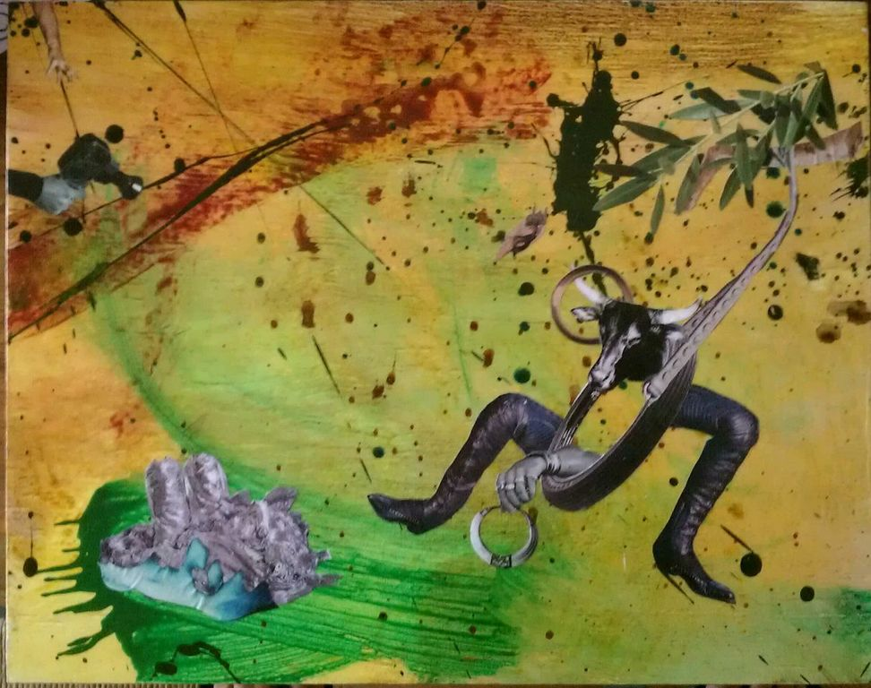 Jumpin' Jack Flash - Mixed media on wood (SOLD)