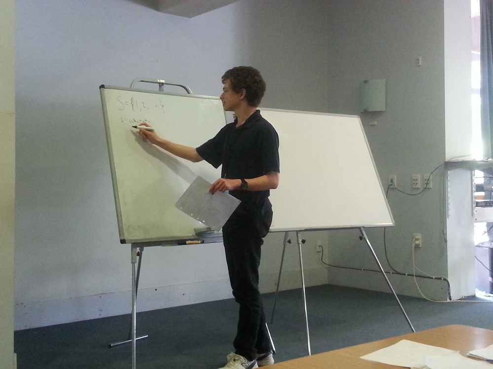 Ari Markowitz explaining how to solve Question 1