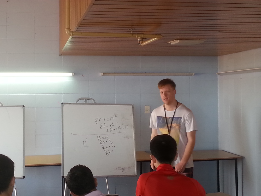 Peter Huxford teaching Junior Number Theory