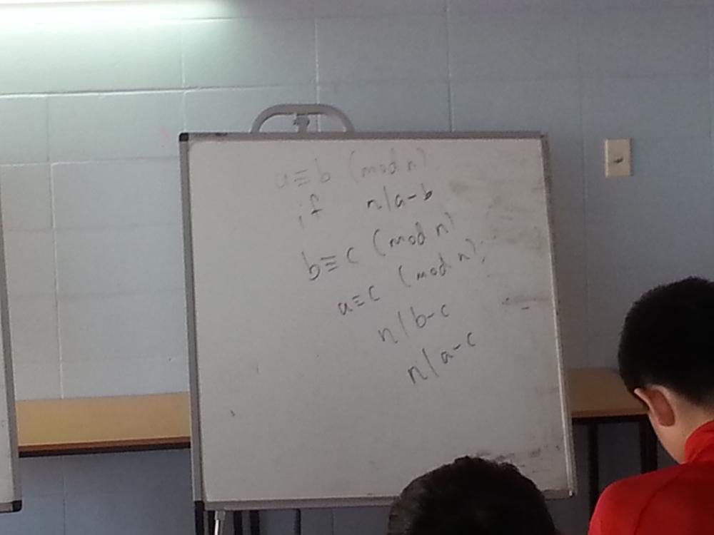 Junior lecture dealing with modular arithmetics