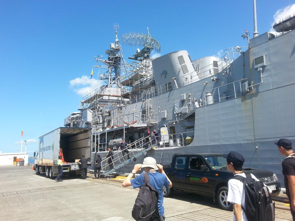 A Navy ship