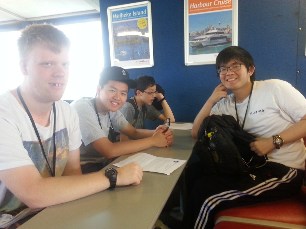 (from left: Peter Huxford, George Han, Edward Chen, Xuzhi Zhang)