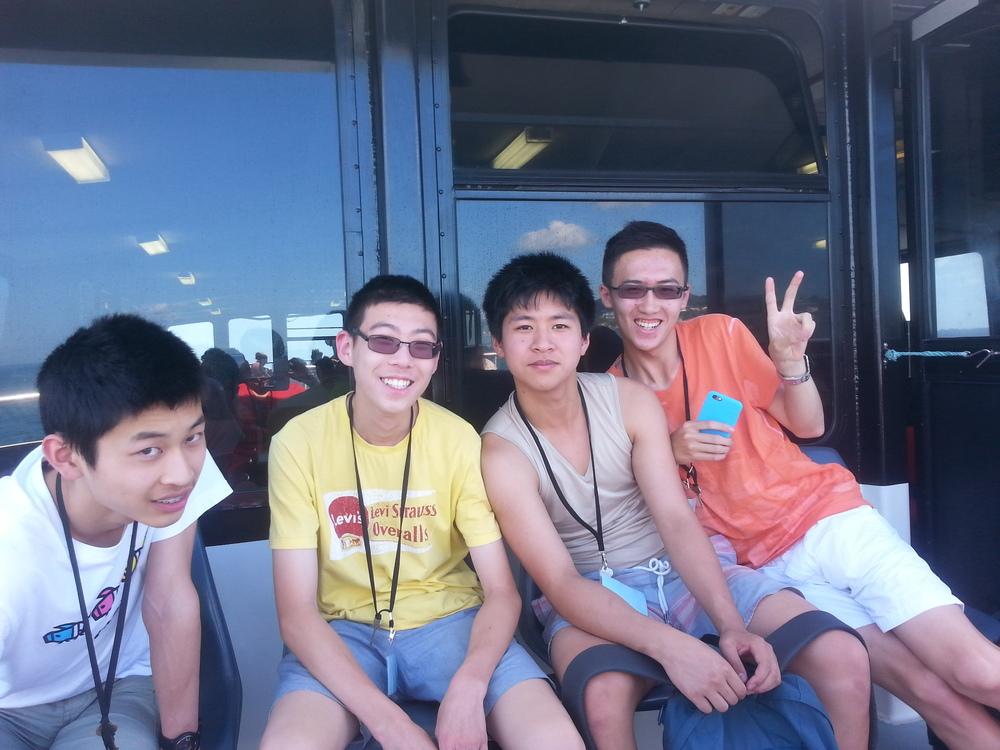 (from left: Kevin Shen, William Wang, Gary Qian, Martin Luk)