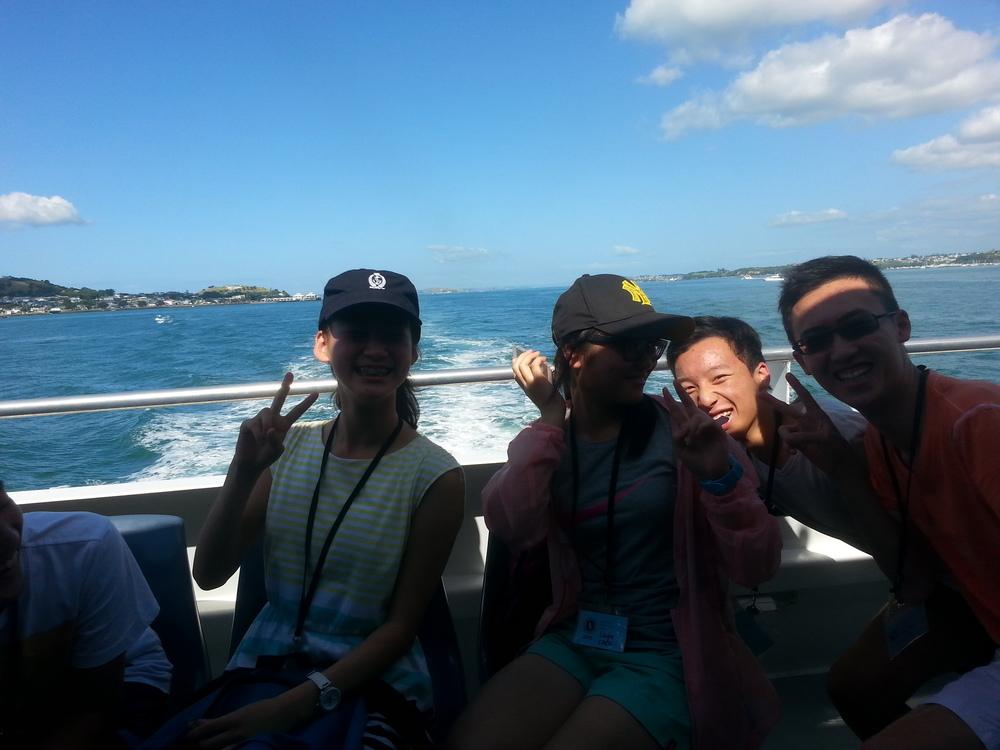 (from left: Claire Shi, Liujia Chen, George Li, Martin Luk)