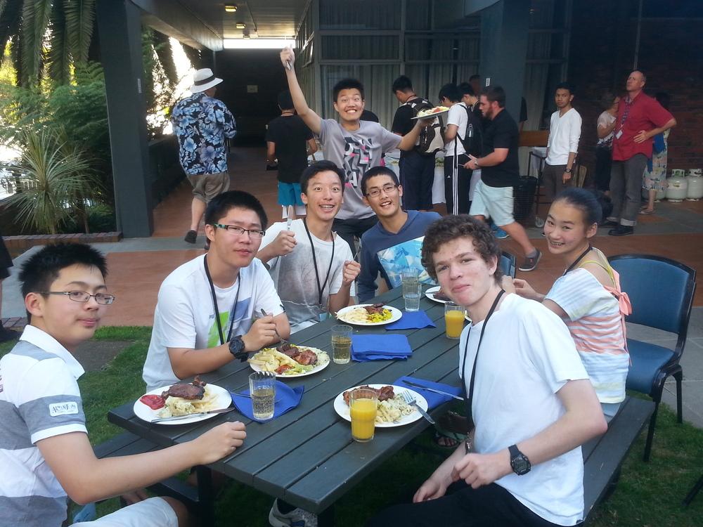 (from left: Winston Yao, Hao Jia, George Li, Chris Wan, Tony Wang, Ari Markowitz, Claire Shi)