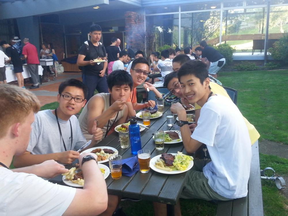 (from left: Peter Huxford, George Han, Weber Wang, Gary Qian, Martin Luk, Miles Lee, William Wang, Kevin Shen)