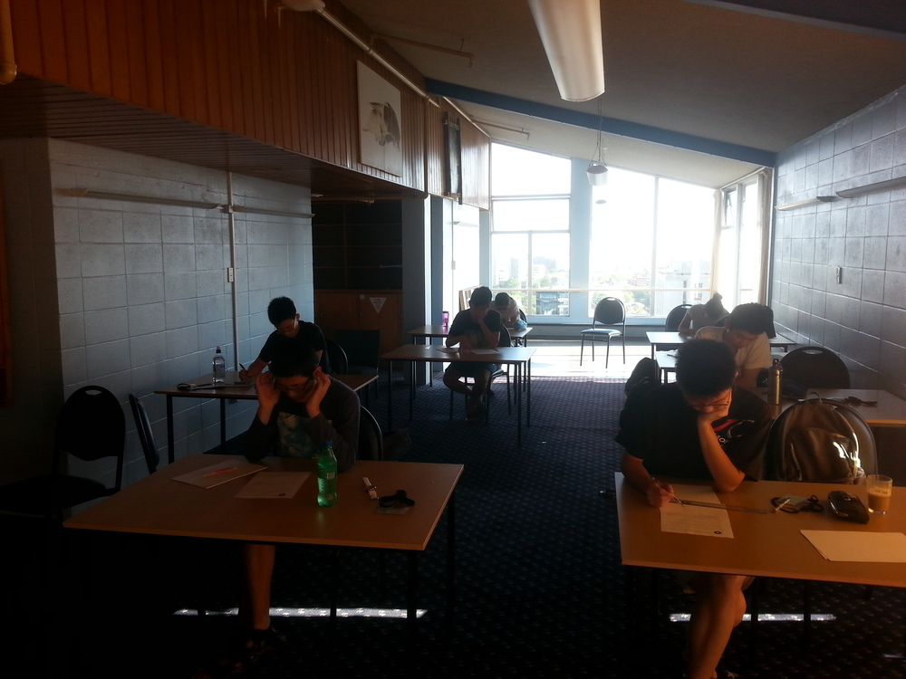 Students sitting the squad selection test