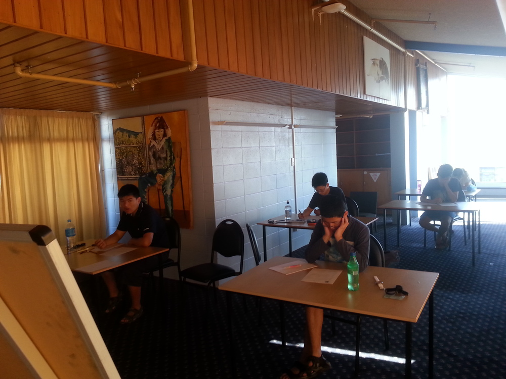 Students sitting the squad selection test 2
