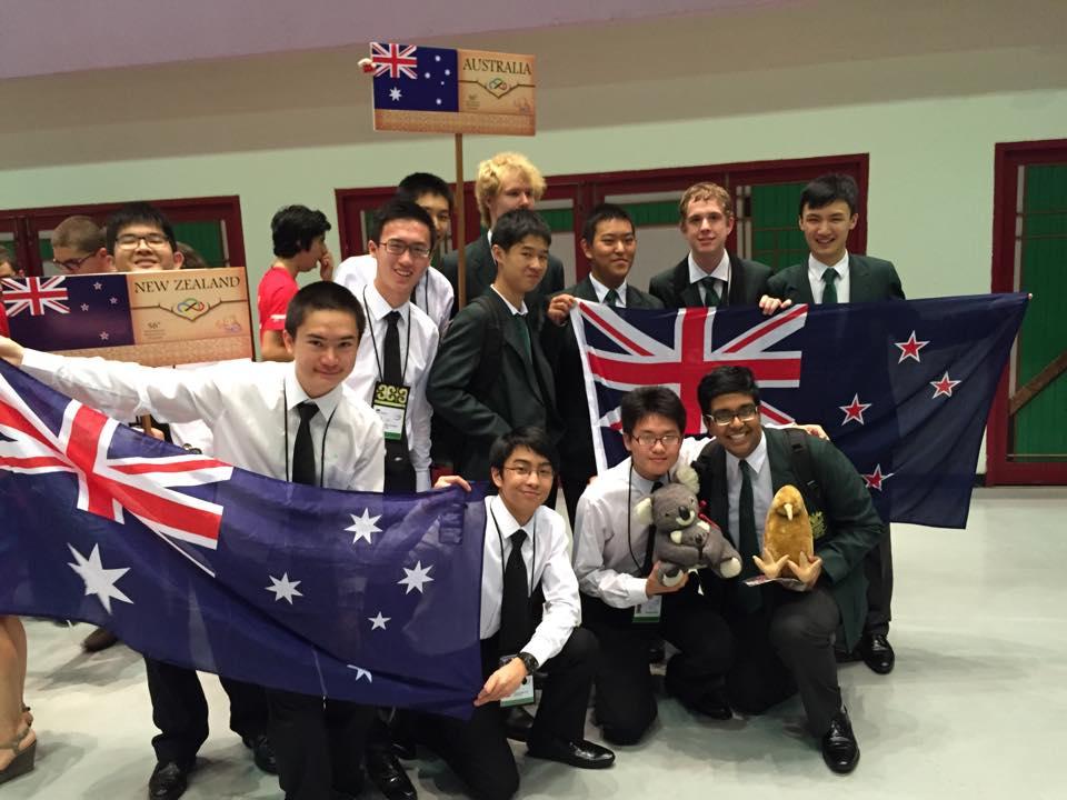 The NZ team with the Aussie team! We sense some betrayals here.